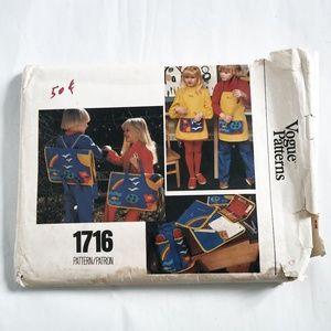 VTG 70s Vogue Pattern 1716 School Backpack Tote